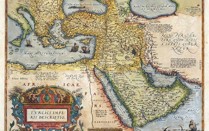Средиземноморье, карта Абрахама Ортелия / Wikimedia Commons